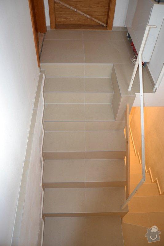 Obložení schodiště a položení dlažby v novostavbě rodinného domu: R_6_