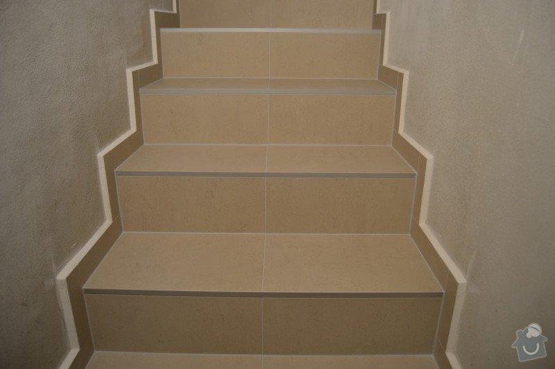 Obložení schodiště a položení dlažby v novostavbě rodinného domu: R_3_