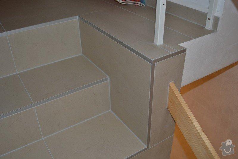 Obložení schodiště a položení dlažby v novostavbě rodinného domu: R_7_