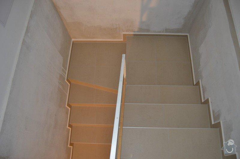 Obložení schodiště a položení dlažby v novostavbě rodinného domu: R_9_