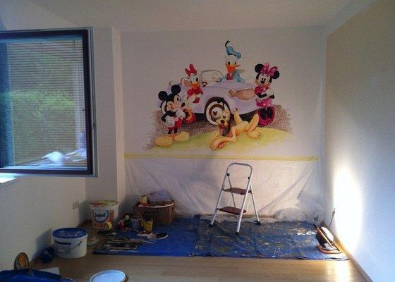 Nástěnná malba v dětském pokoji