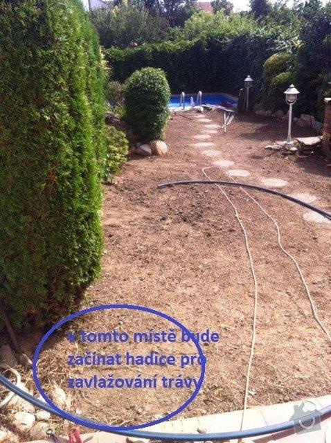 Závlahový systém na trávník 50m2: zahrada-b