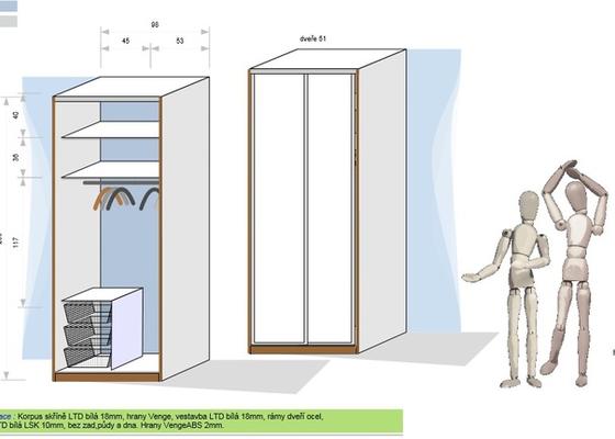 Vestavená skřín do chodby