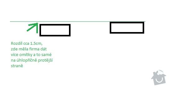 Vyrovnání sádrových omítek 15m2, vyrovnání stavebního otvoru pro zárubně : dvere
