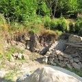 Vyzdeni pevneho tarasu z kamenu zed