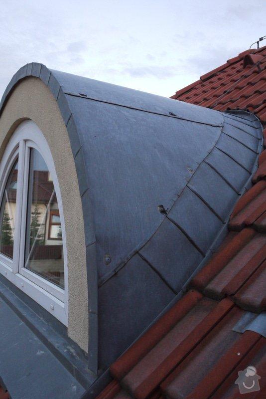 Oprava/vymena titanozinkovych plechu - oblozeni vikyrovych oken (2x) u RD: vikyr