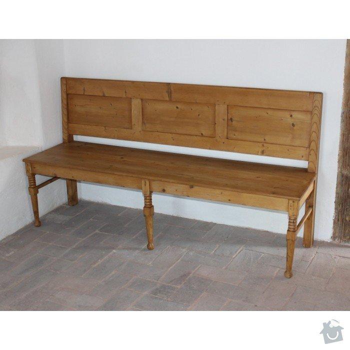 Navrh a vyroba drevene lavice a stolku na chalupu: lavice_navrh