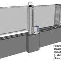 Vjezdova vrata s pohonem shrnovaci do pevne casti plotu vrata