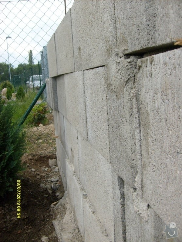 Stavba plotu: Svoboda_-_detail_zednicke_prace_3