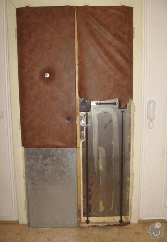 Čalounění vstupních dveří: dvere_1