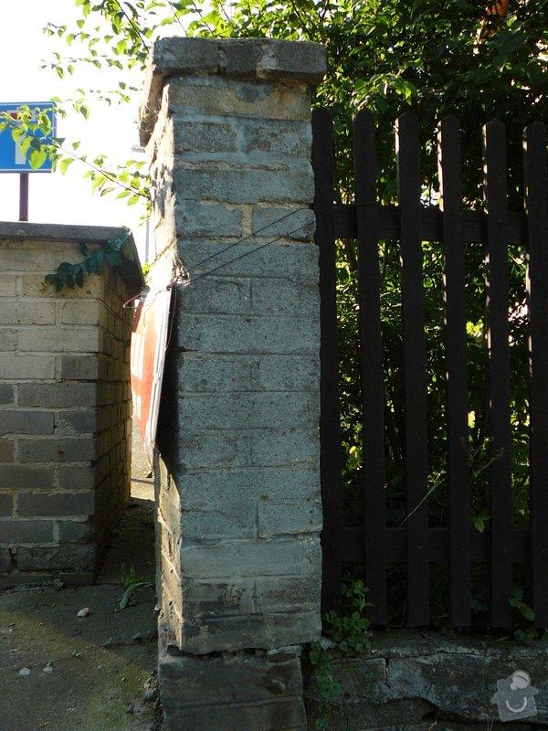 Oprava plotového sloupku: P1190989