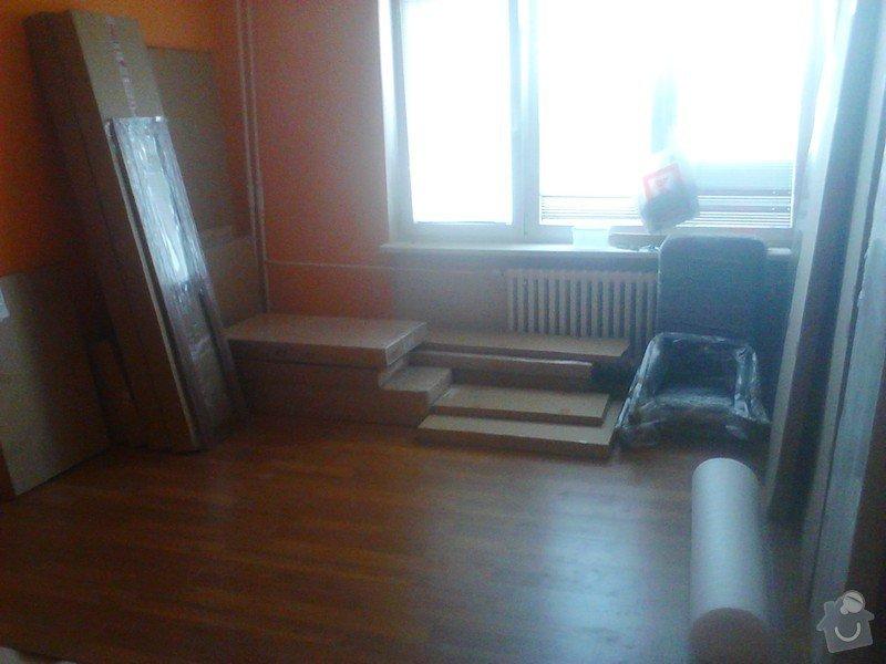 Rekonstrukce panelového bytu: dovoz_noveho_nabytku