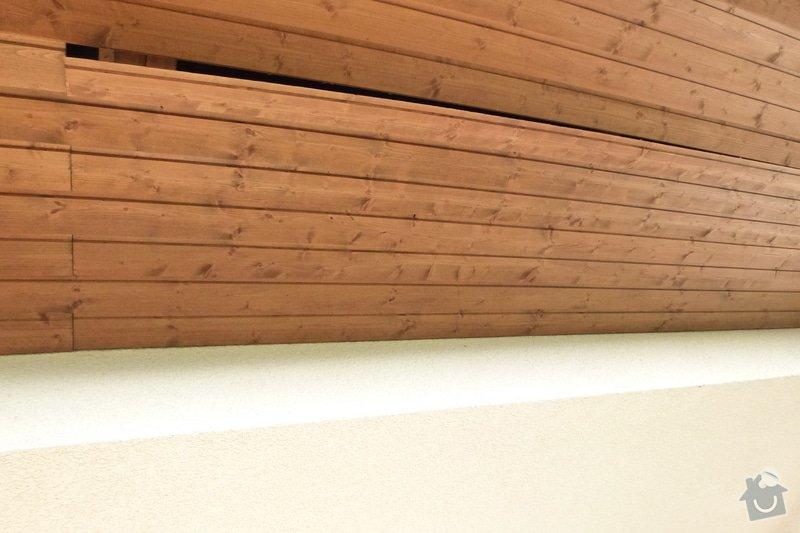 Oprava dřevěného podbití střechy: P1040481