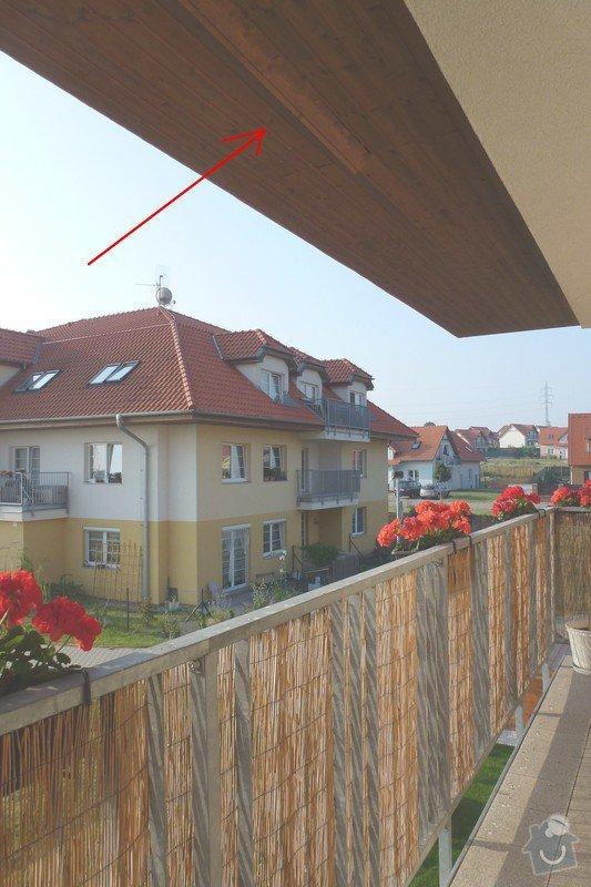 Oprava dřevěného podbití střechy: P1040484