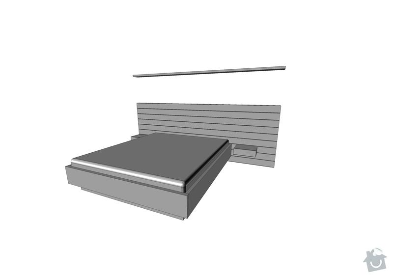 Loznice - postel a oblozeni sten: Postel