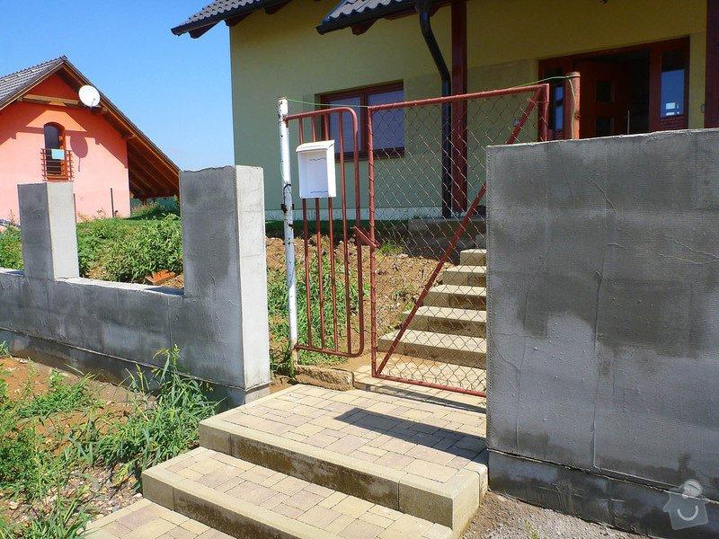 Samonosná brána a branka k rodinnému domu: branka