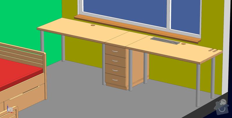 Dva psací stoly s šuplíky: Stoly_01