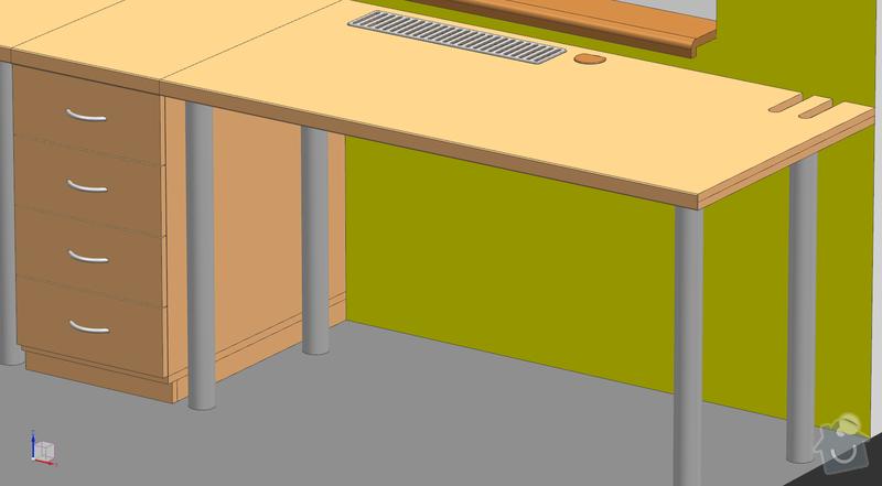 Dva psací stoly s šuplíky: Stoly_02