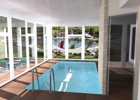 Návrh vnitřního bazénu