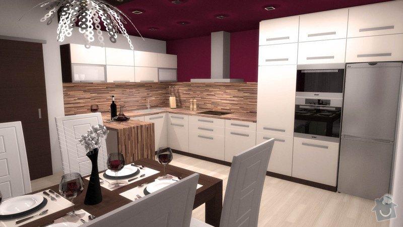 Návrh interiéru kuchyně a obývacího pokoje: k_o_1
