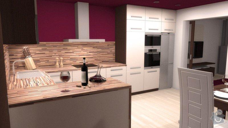 Návrh interiéru kuchyně a obývacího pokoje: k_o_2