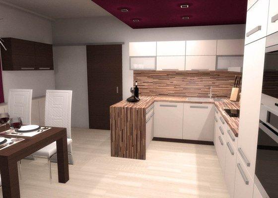 Návrh interiéru kuchyně a obývacího pokoje