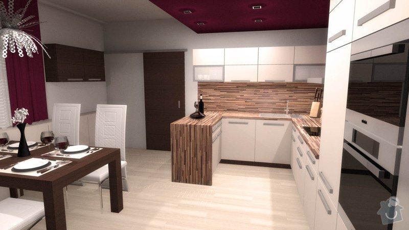 Návrh interiéru kuchyně a obývacího pokoje: k_o_3