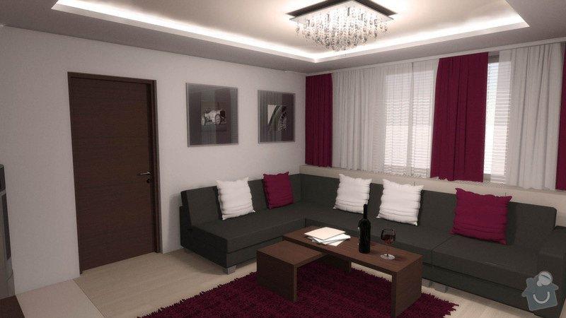 Návrh interiéru kuchyně a obývacího pokoje: k_o_6