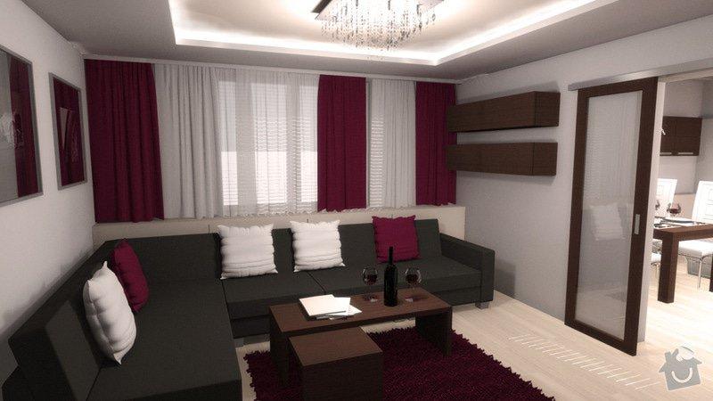 Návrh interiéru kuchyně a obývacího pokoje: k_o_7
