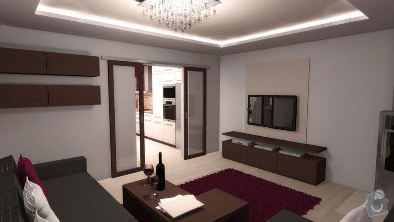 Návrh interiéru kuchyně a obývacího pokoje: k_o_8