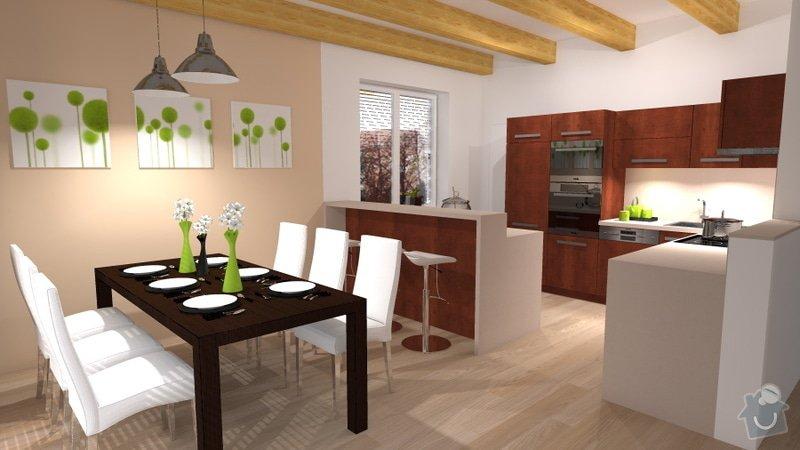 Návrh interiéru novostavby - kuchyň a obývací pokoj: novostavba_1