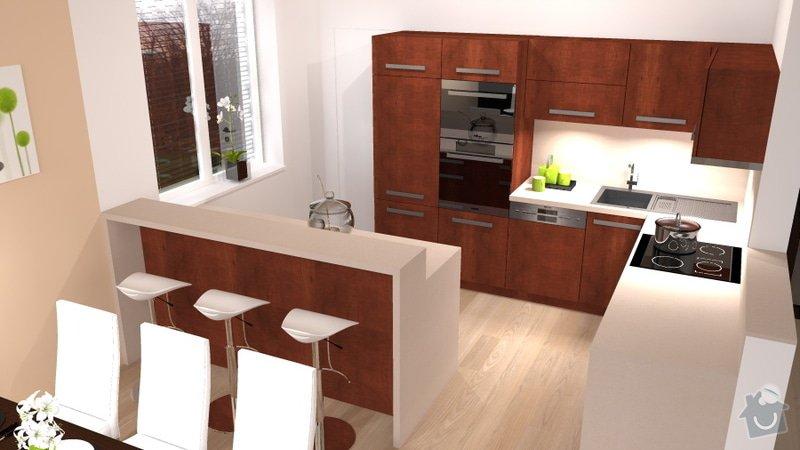 Návrh interiéru novostavby - kuchyň a obývací pokoj: novostavba_2