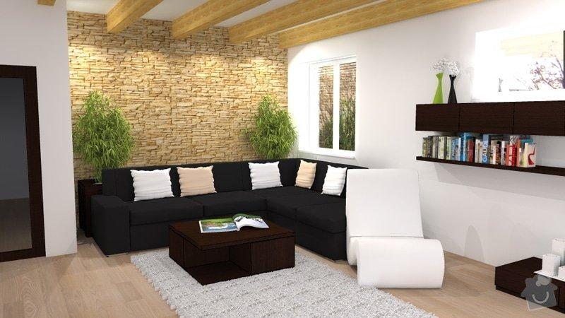 Návrh interiéru novostavby - kuchyň a obývací pokoj: novostavba_4