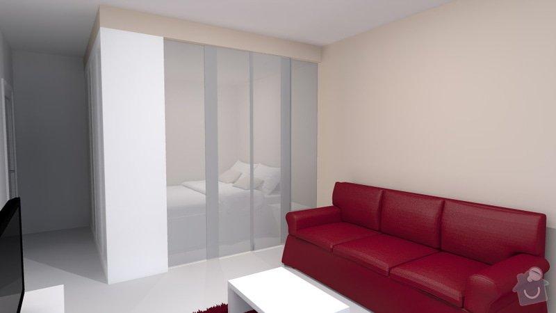 Návrh obývacího pokoje se spací částí: Travnik_1