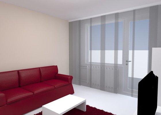 Návrh obývacího pokoje se spací částí