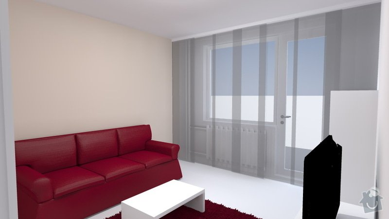 Návrh obývacího pokoje se spací částí: Travnik_2