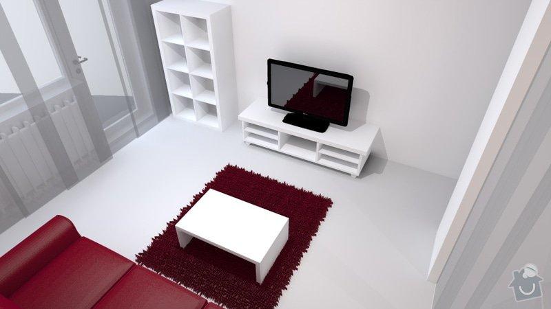 Návrh obývacího pokoje se spací částí: Travnik_3