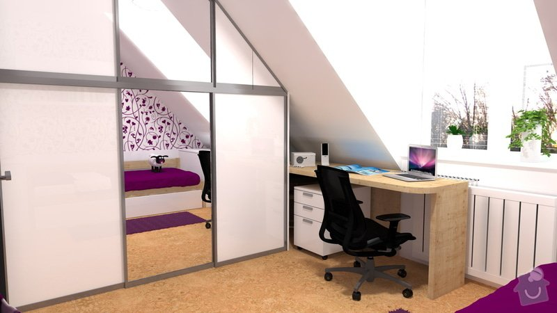 Návrh interiéru studentského pokoje: pokoj_2