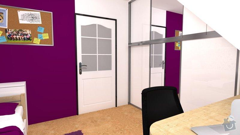 Návrh interiéru studentského pokoje: pokoj_3