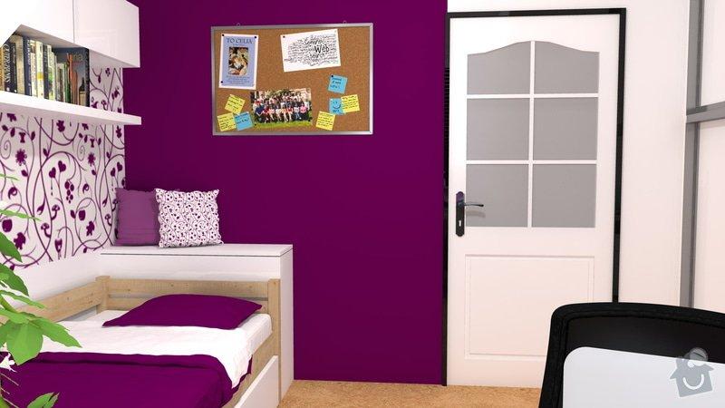 Návrh interiéru studentského pokoje: pokoj_4