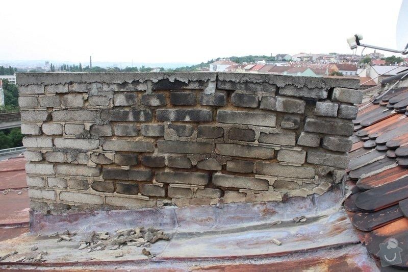 Oprava komínu + provizorní oprava střechy: komin01