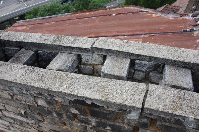 Oprava komínu + provizorní oprava střechy: komin02