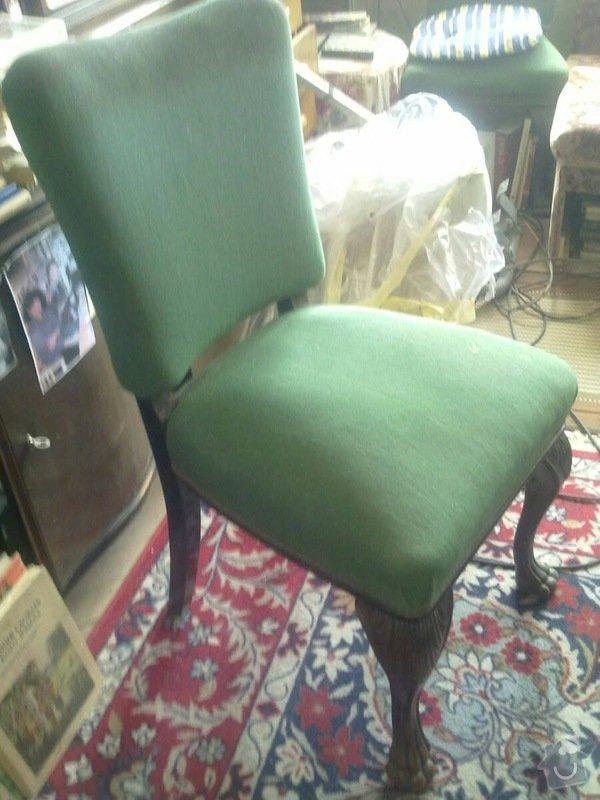 Čalounění židlí, křesel a matrací: 1_zidle_4kusy