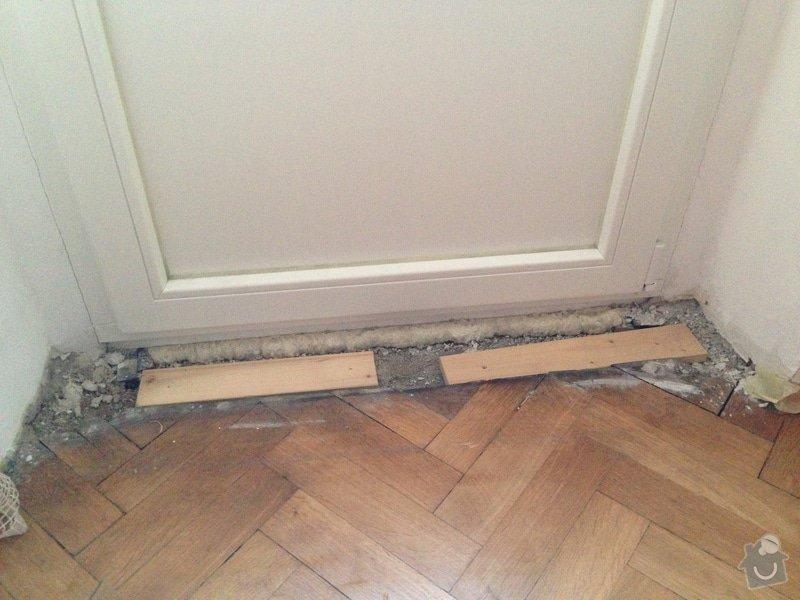 Oprava/doplneni parketove podlahy: obrazek