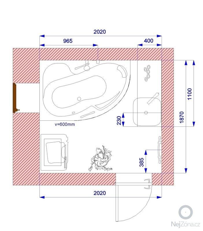 Rekonstrukce koupelny: Plan_-