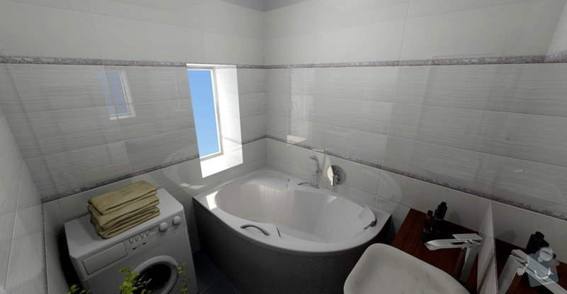 Rekonstrukce koupelny: VIZ3