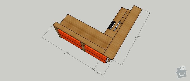 Výroba stolu do vstupní haly firmy: PTS_stul_1