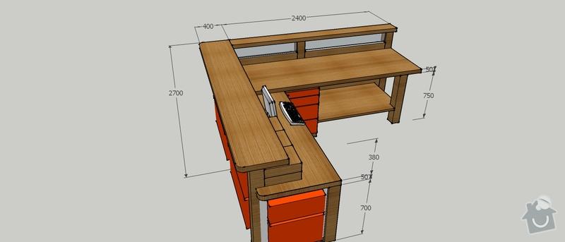 Výroba stolu do vstupní haly firmy: PTS_stul_2