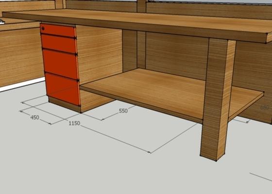 Výroba stolu do vstupní haly firmy