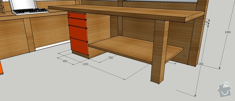 Výroba stolu do vstupní haly firmy: PTS_stul_4